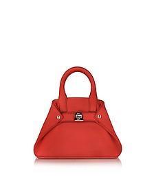 Scarlet Leather Micro Ai Crossbody Bag - Akris