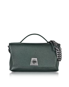 Bottle Green Cervocalf Anouk Day Bag w/Detachable Chain - Akris