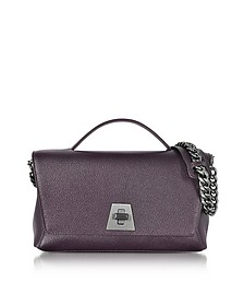 Blackberry Cervocalf Anouk Day Bag w/Detachable Chain - Akris