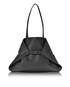 Black Cervocalf Ai Medium Shoulder Bag - Akris