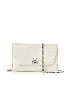 Ecru Cervocalf Anouk Mini Envelope Bag - Akris