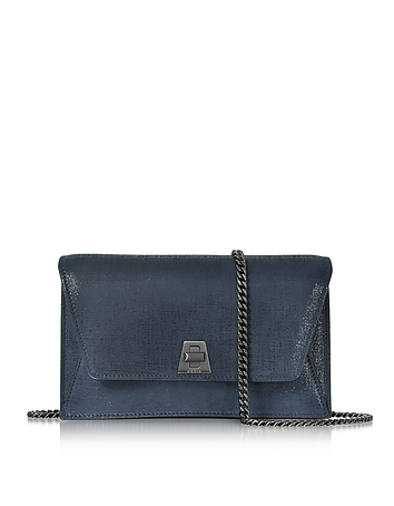 Akris - Denim Blue Anouk Mini Envelope Bag
