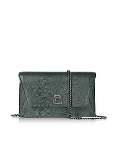 Bottle Green Cervocalf Anouk Mini Envelope Bag - Akris