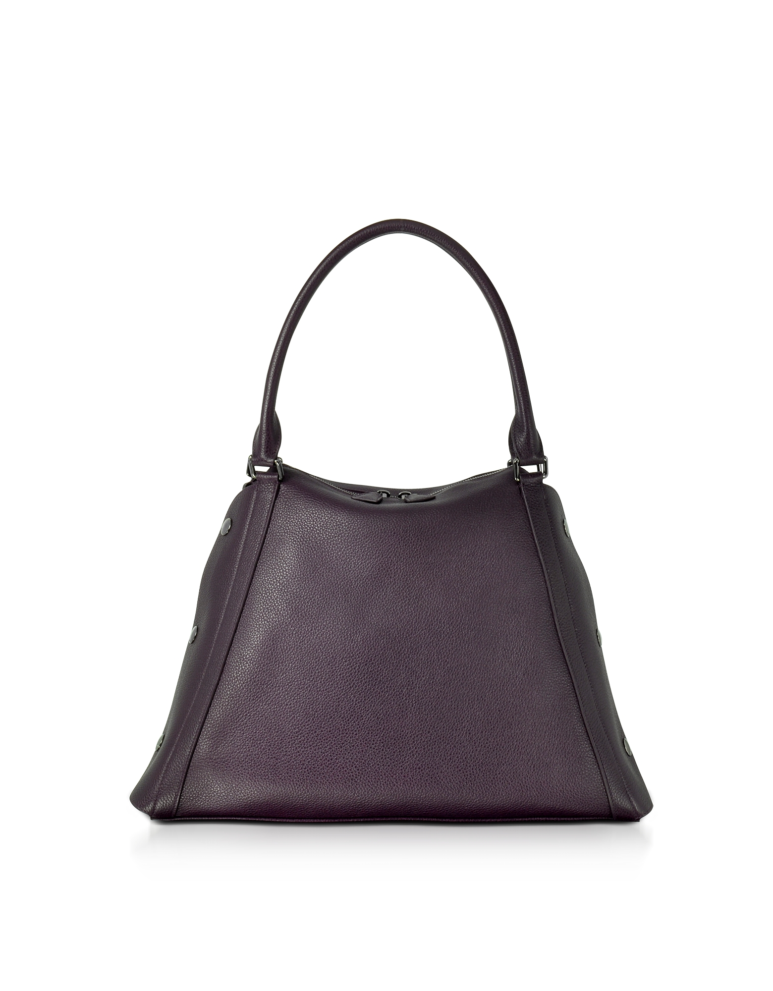 M Aimee Blackberry Leather Satchel Bag