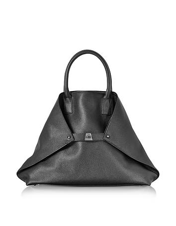 Akris - Black Cervocalf Ai Medium Messenger Bag
