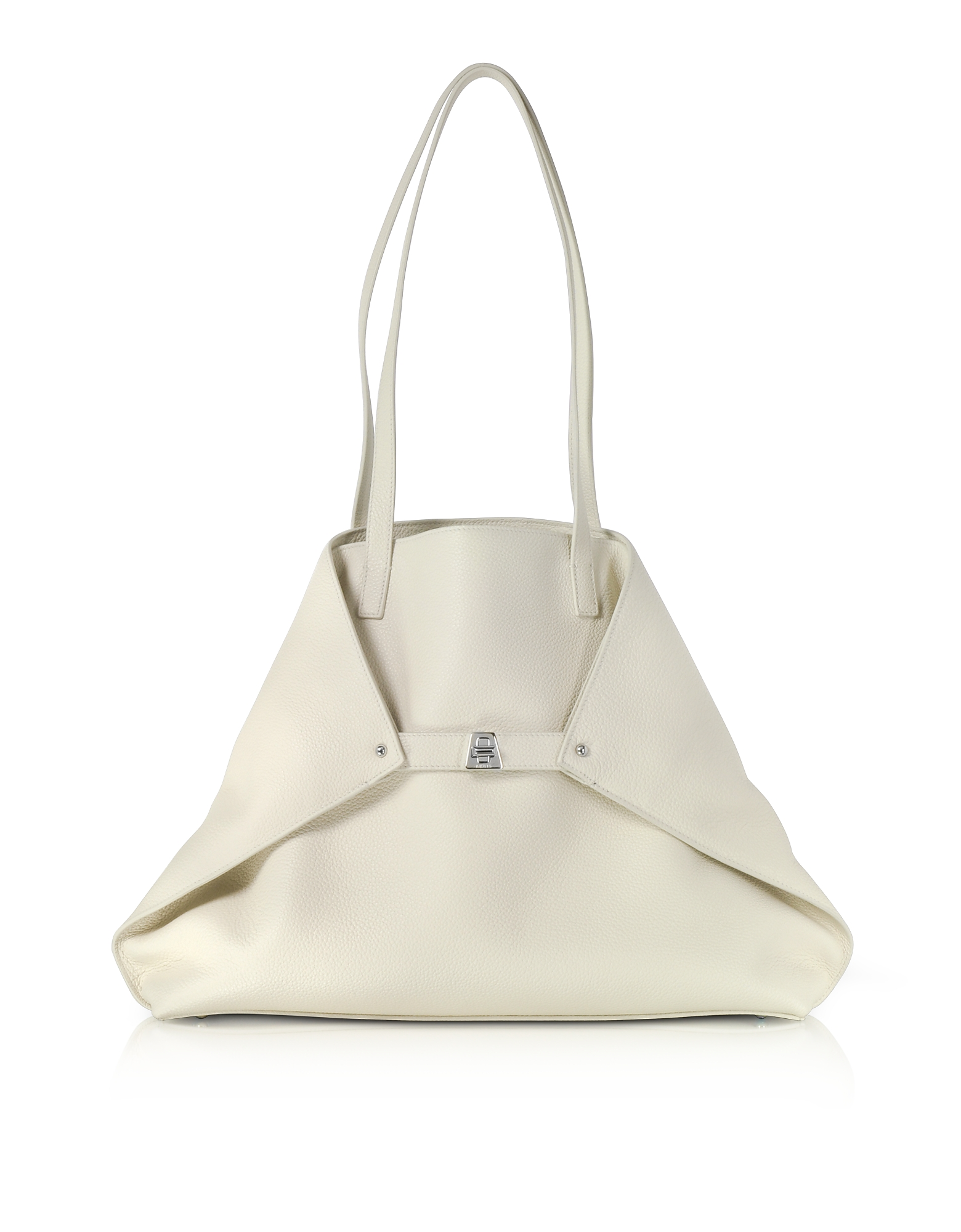 Akris Handbags, Ecru Cervocalf Ai Medium Shoulder Bag