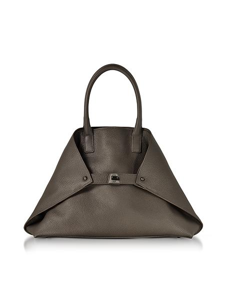 Akris Mocca Cervocalf Ai Small Messenger Bag