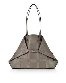 Taiga Leather and Suede Ai Medium Shoulder Bag - Akris