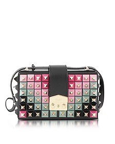 Lou Studs Black leather Shoulder Bag - Salar
