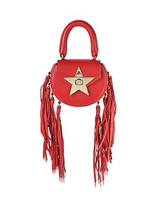 Mimi Mini Knots Poppy Leather Shoulder Bag - Salar