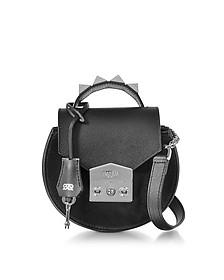 Carol Black Leather Shoulder Bag - Salar