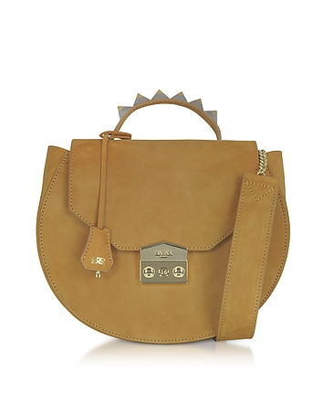 Salar - Eva Cognac Nubuck Shoulder Bag
