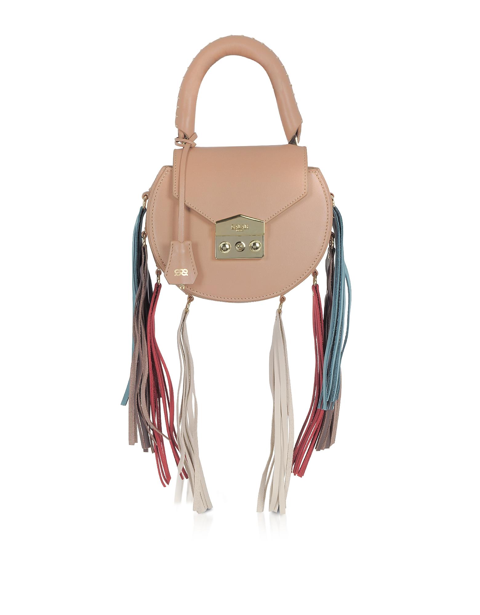 Фото Mimi Rainbow Cognac Leather Shoulder Bag w/Fringes. Купить с доставкой