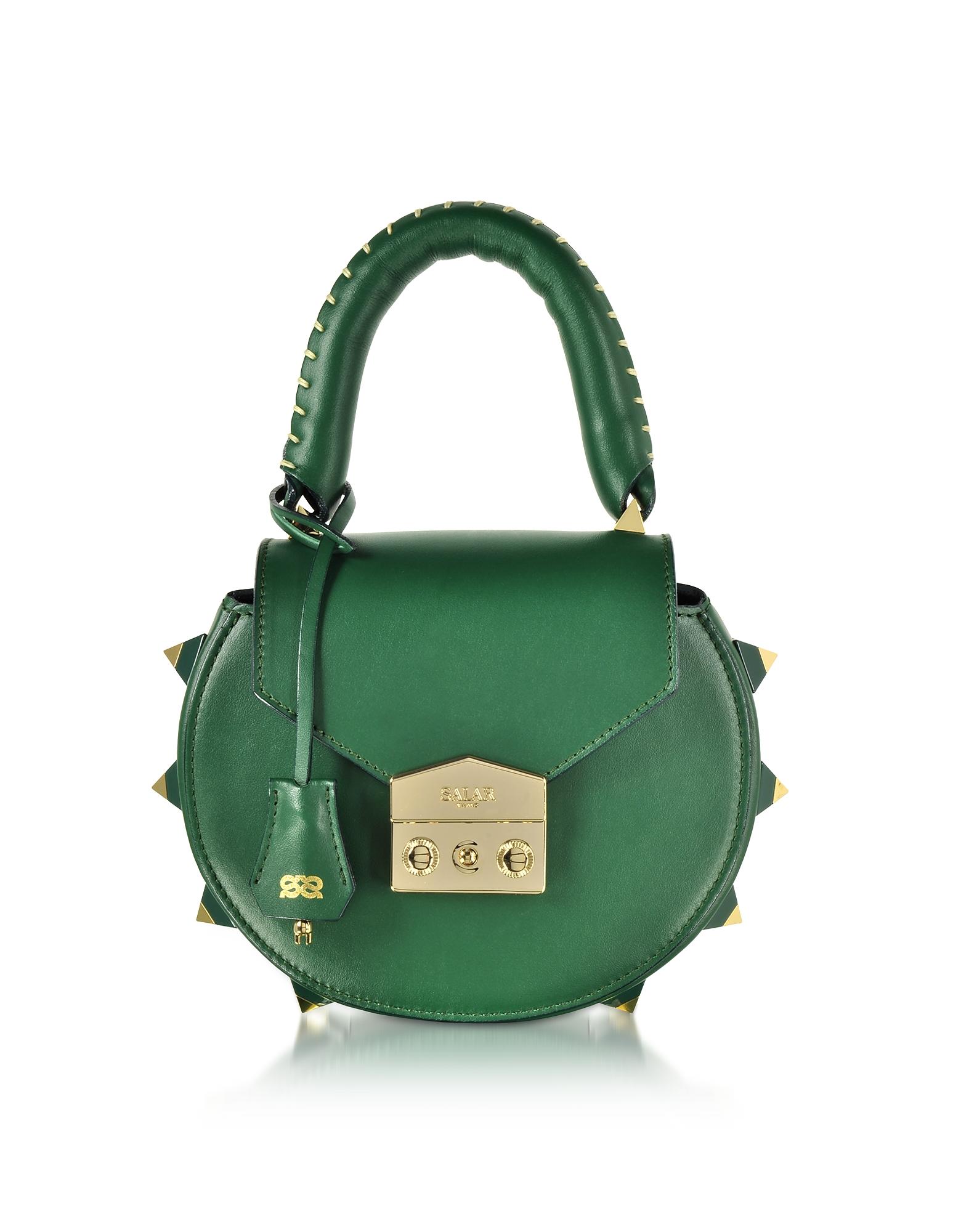 Mimi Green Leather Shoulder Bag