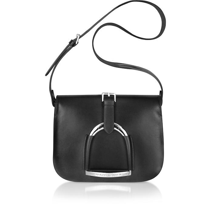 Stirrup - Black Leather Shoulder Bag - Ralph Lauren Collection