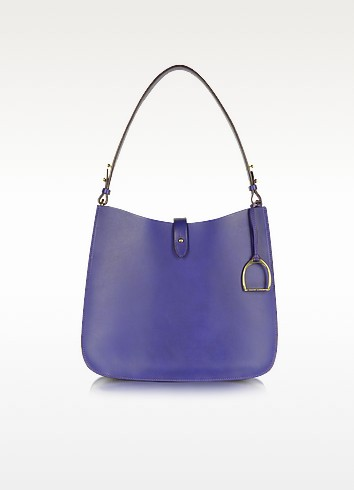 Saddle - Large Leather Hobo - Ralph Lauren Collection