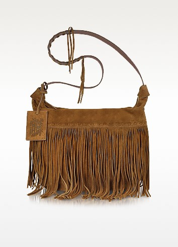 Large Brown Suede Crossbody Bag - Ralph Lauren Collection
