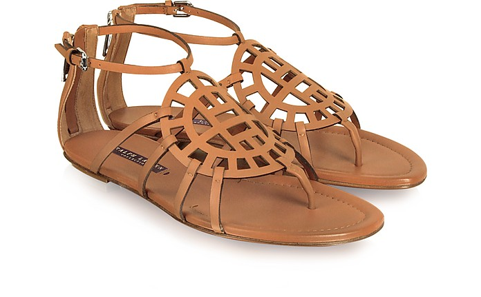 Magnolia - Brown Leather Sandal - Ralph Lauren Collection