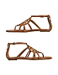 Magnolia - Brown Leather Sandal - Ralph Lauren Collection