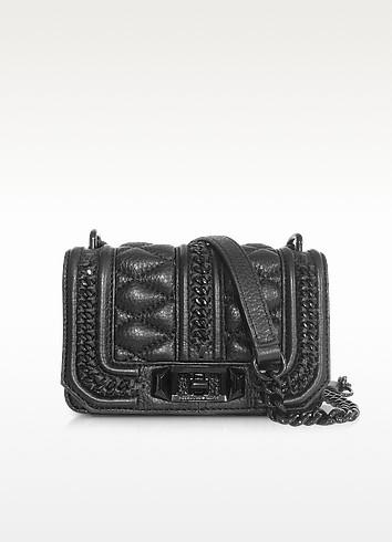 Mini Love in Chains Black Leather Crossbody Bag - Rebecca Minkoff