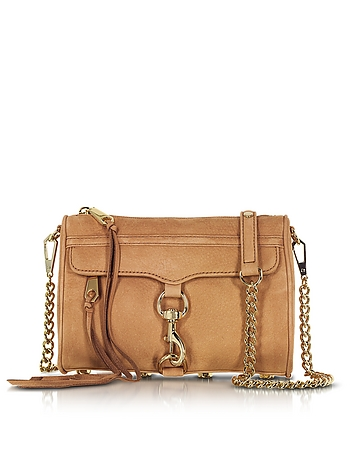 Rebecca Minkoff - Mini Mac Almond Suede Crossbody Bag
