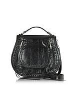 Rebecca Minkoff Vanity Saddle Bag in Pelle Nera - rebecca minkoff - it.forzieri.com