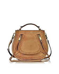 Vanity Almond Leather Small Saddle Bag - Rebecca Minkoff