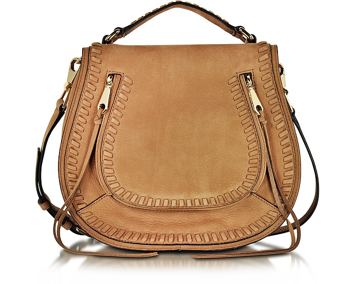 Vanity Almond Leather Saddle Bag - Rebecca Minkoff