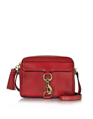 Mab Deep Red Leather Camera Bag