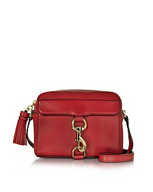 Mab Deep Red Leather Camera Bag - Rebecca Minkoff