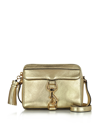 Mab Gold Leather Camera Bag