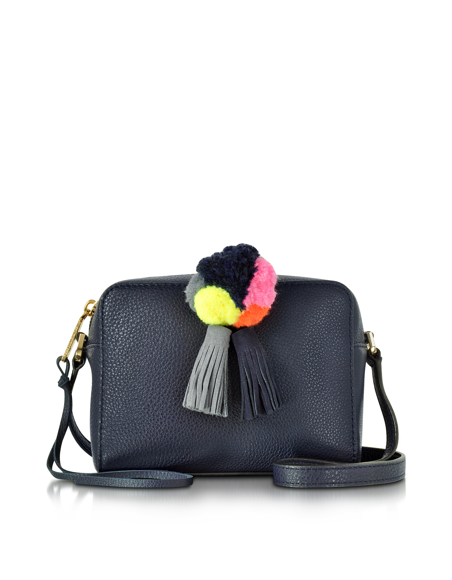 Rebecca Minkoff Pom Pom Moon Leather Mini Sofia Crossbody