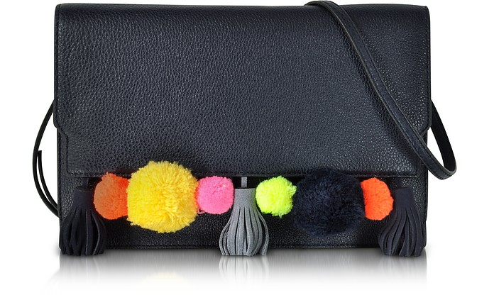 Pom Pom Moon Leather Sofia Clutch Crossbody - Rebecca Minkoff