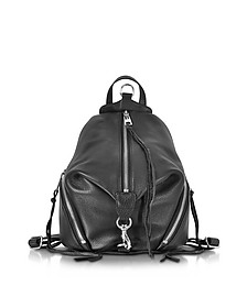 Julian Black Leather Medium Backpack - Rebecca Minkoff