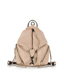 Julian Nude Leather Medium Backpack - Rebecca Minkoff