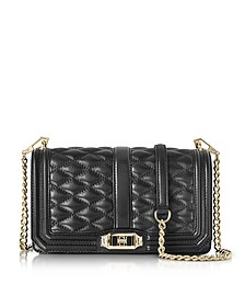 Black Quilted Leather Love Crossbody Bag - Rebecca Minkoff