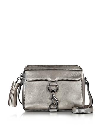 Gunmetal Laminated Leather Mab Camera Bag