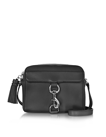 Black Leather Mab Camera Bag