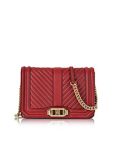 Red Quilted Leather Small Love Crossbody Bag - Rebecca Minkoff