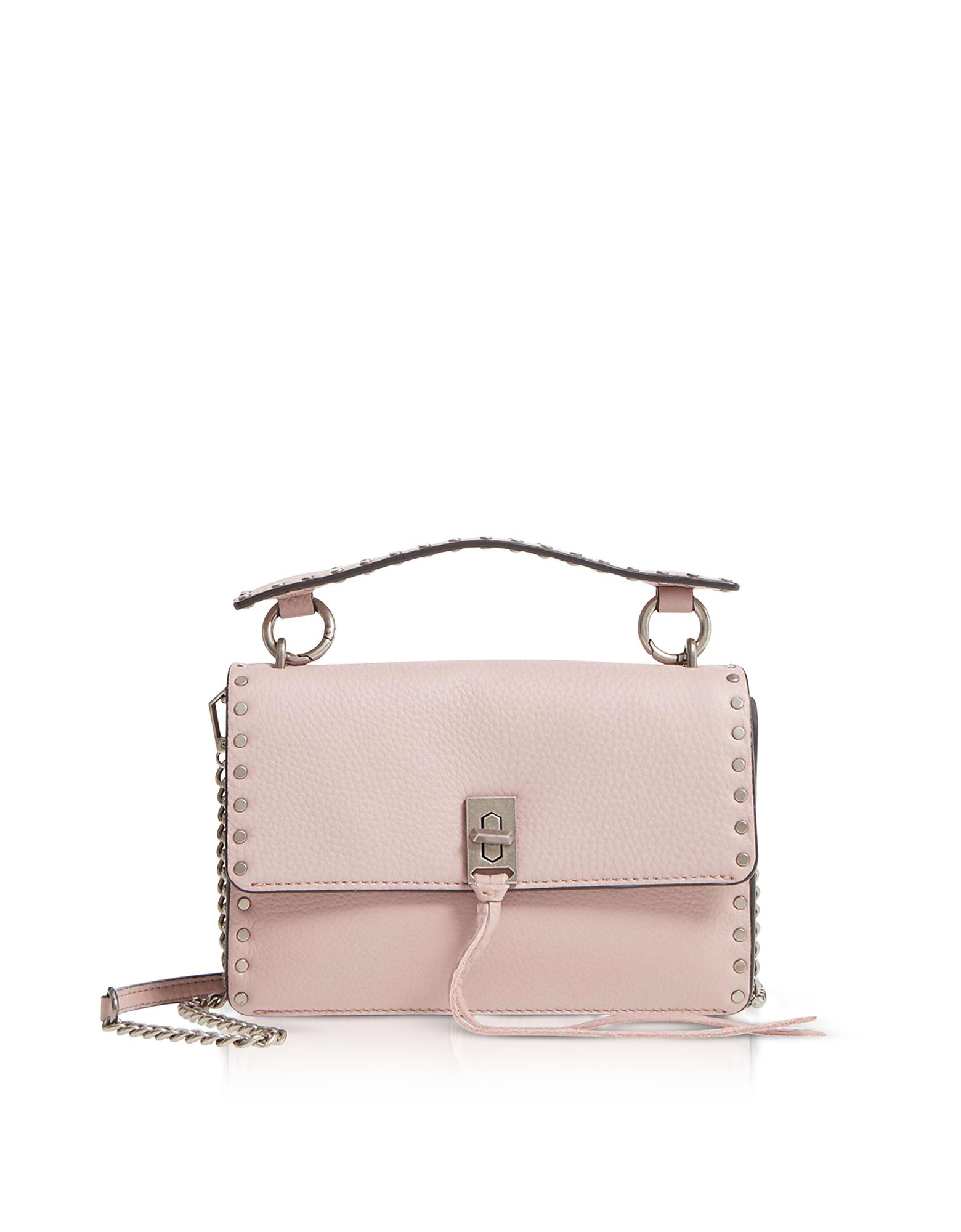 Rebecca Minkoff Designer Handbags, Vintage Pink Leather Darren Top Handle Flap Crossbody