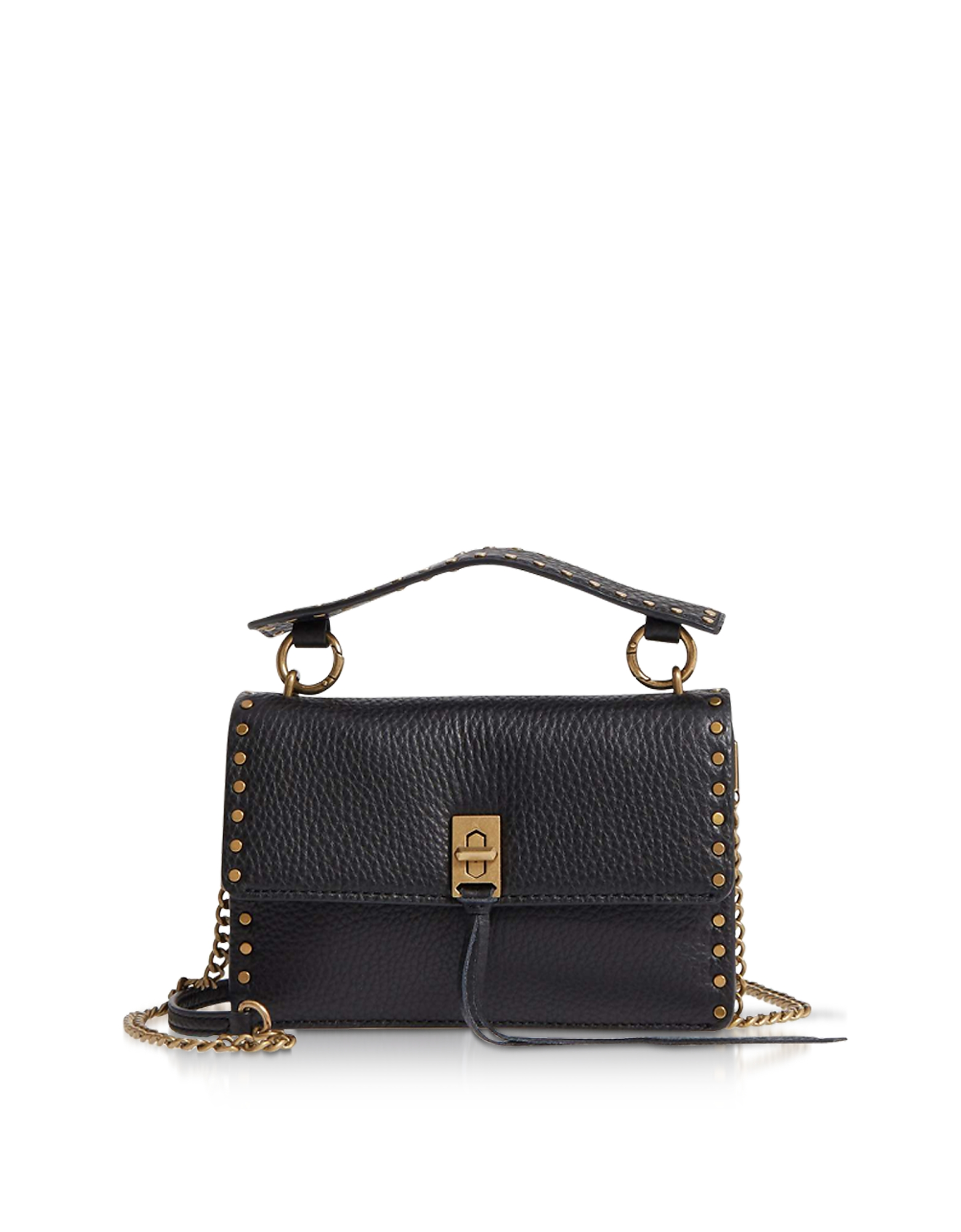 Darren Borsa Top Handle con Tracolla in Pelle Nera