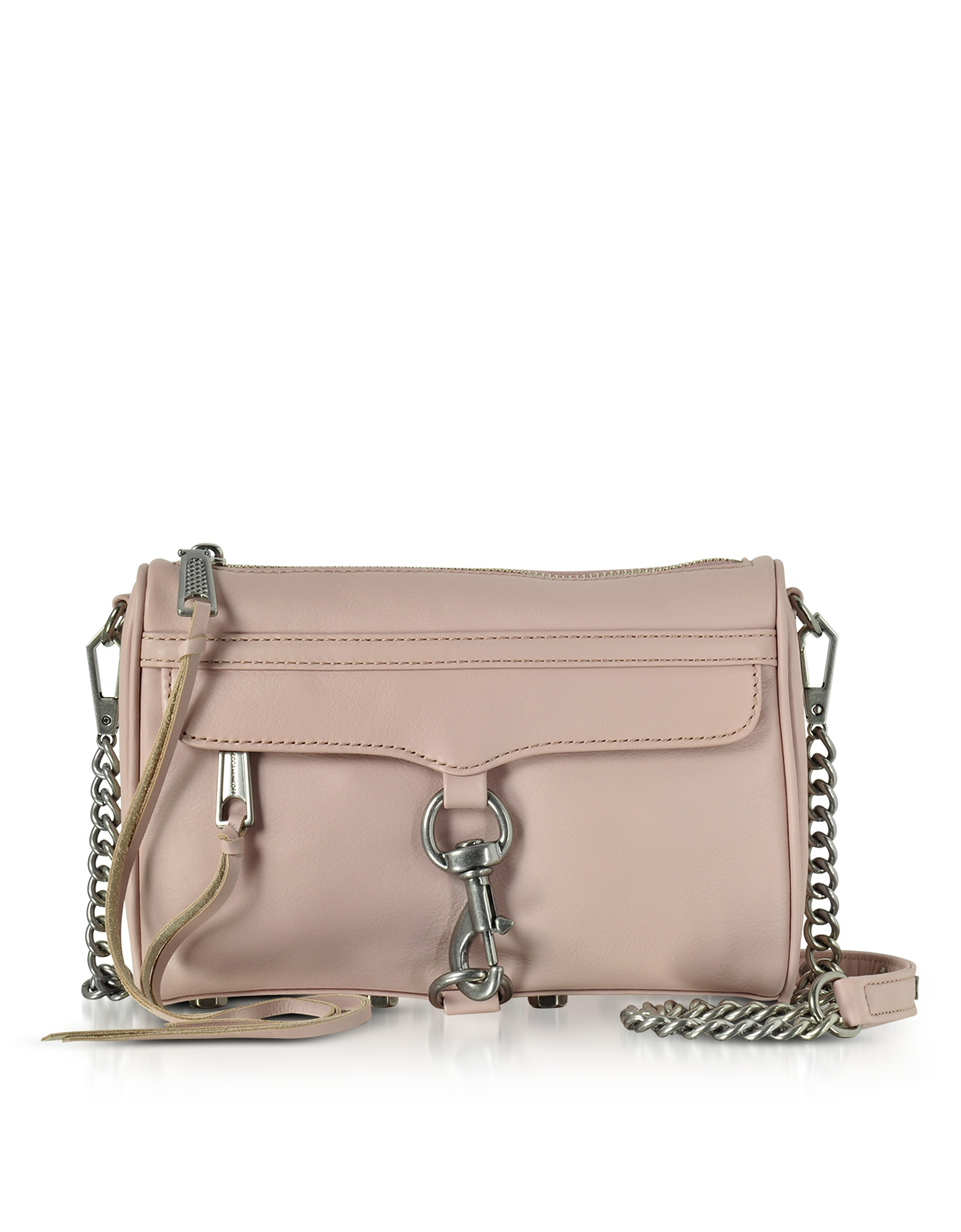 Mini M.A.C. Cluch con Tracolla in Pelle Vintage Pink