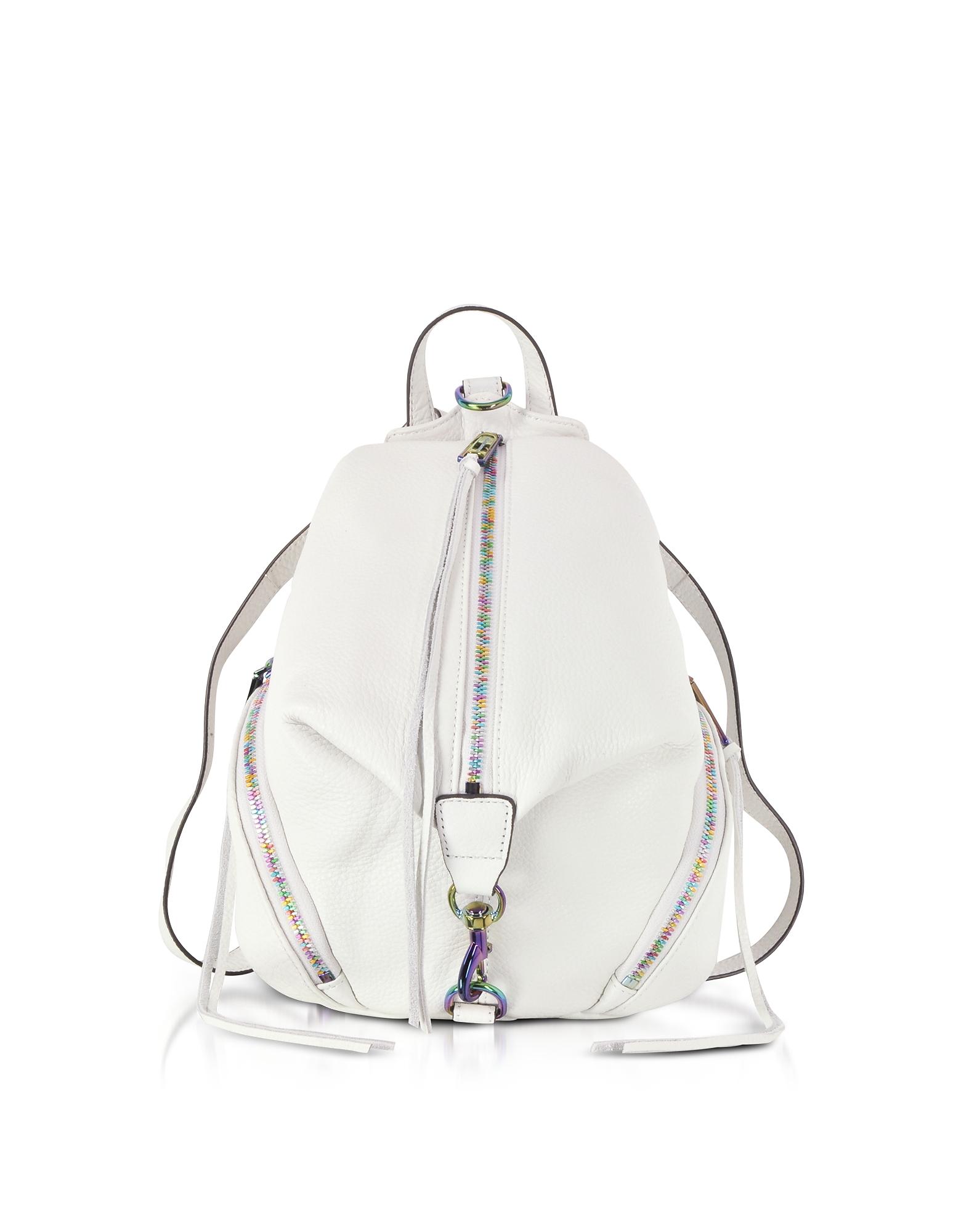 Rebecca Minkoff Handbags, Bianco Leather Medium Julian Backpack