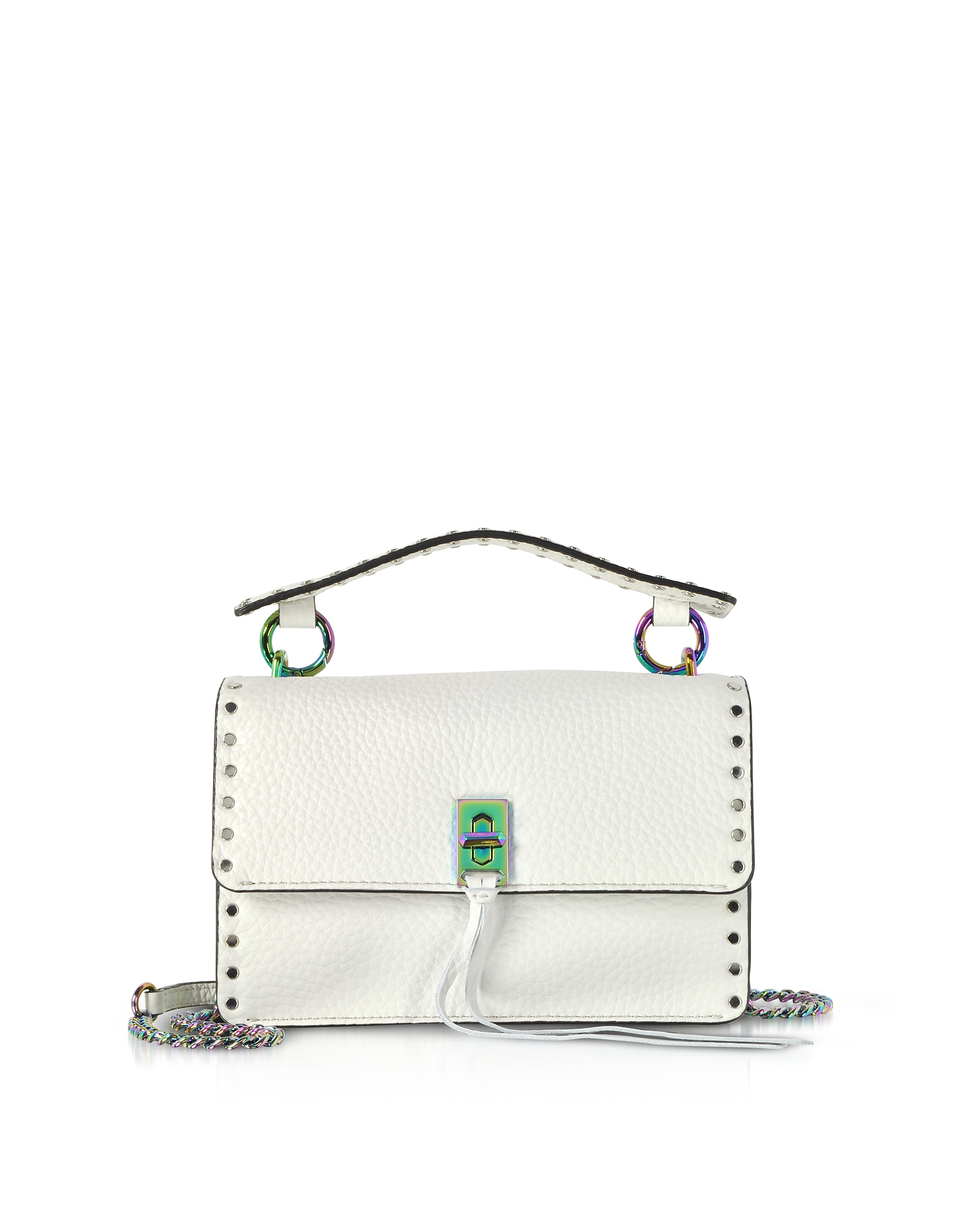Rebecca Minkoff Handbags, Bianco Leather Darren Top Handle Flap Crossbody