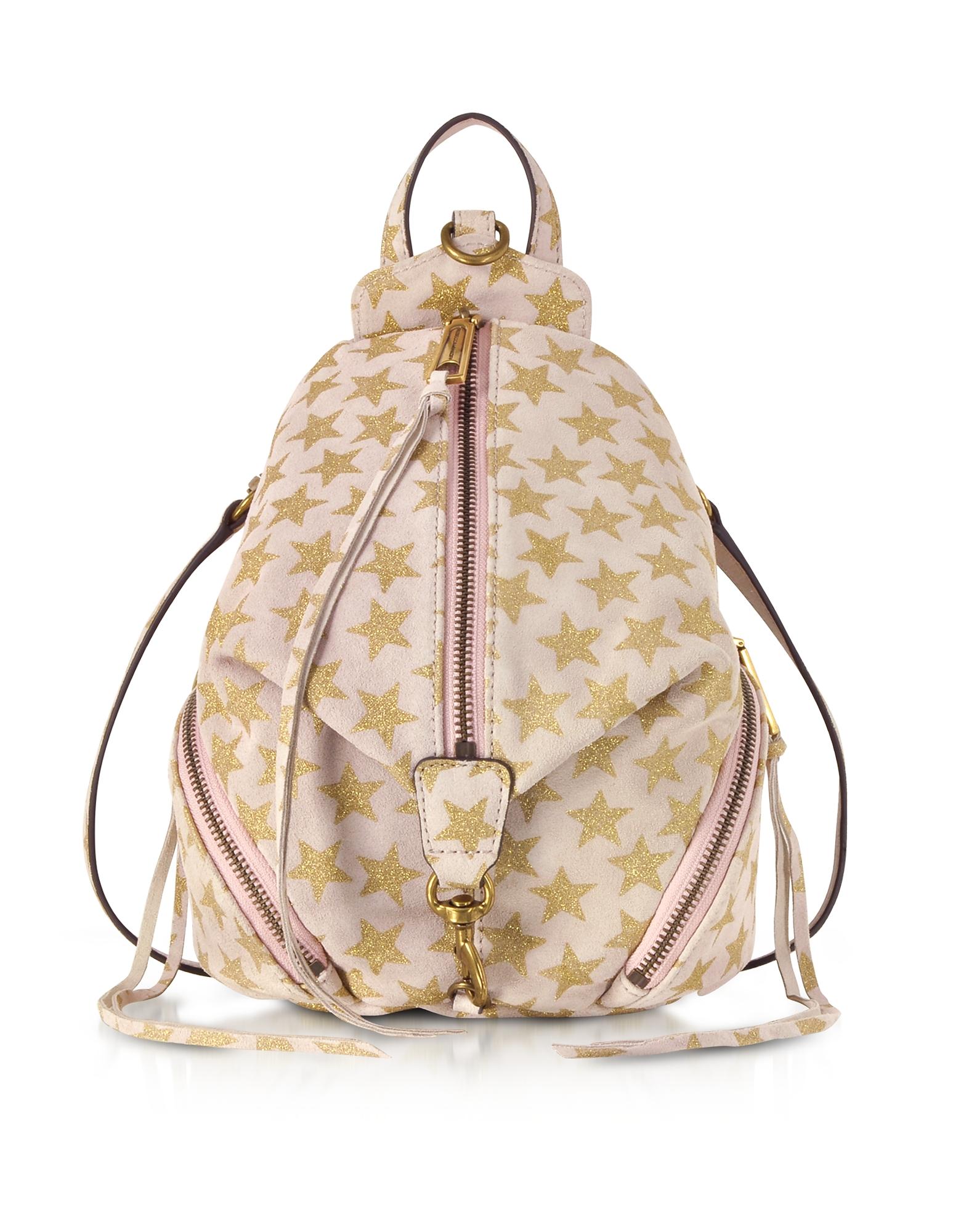 Rebecca Minkoff Handbags, Nude Leather Convertible Mini Julian Backpack w/Stars