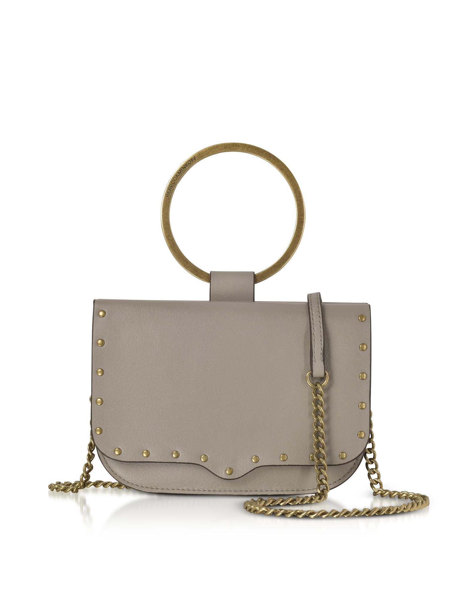 Rebecca Minkoff Handbags, Taupe Leather Ring Crossbody Bag