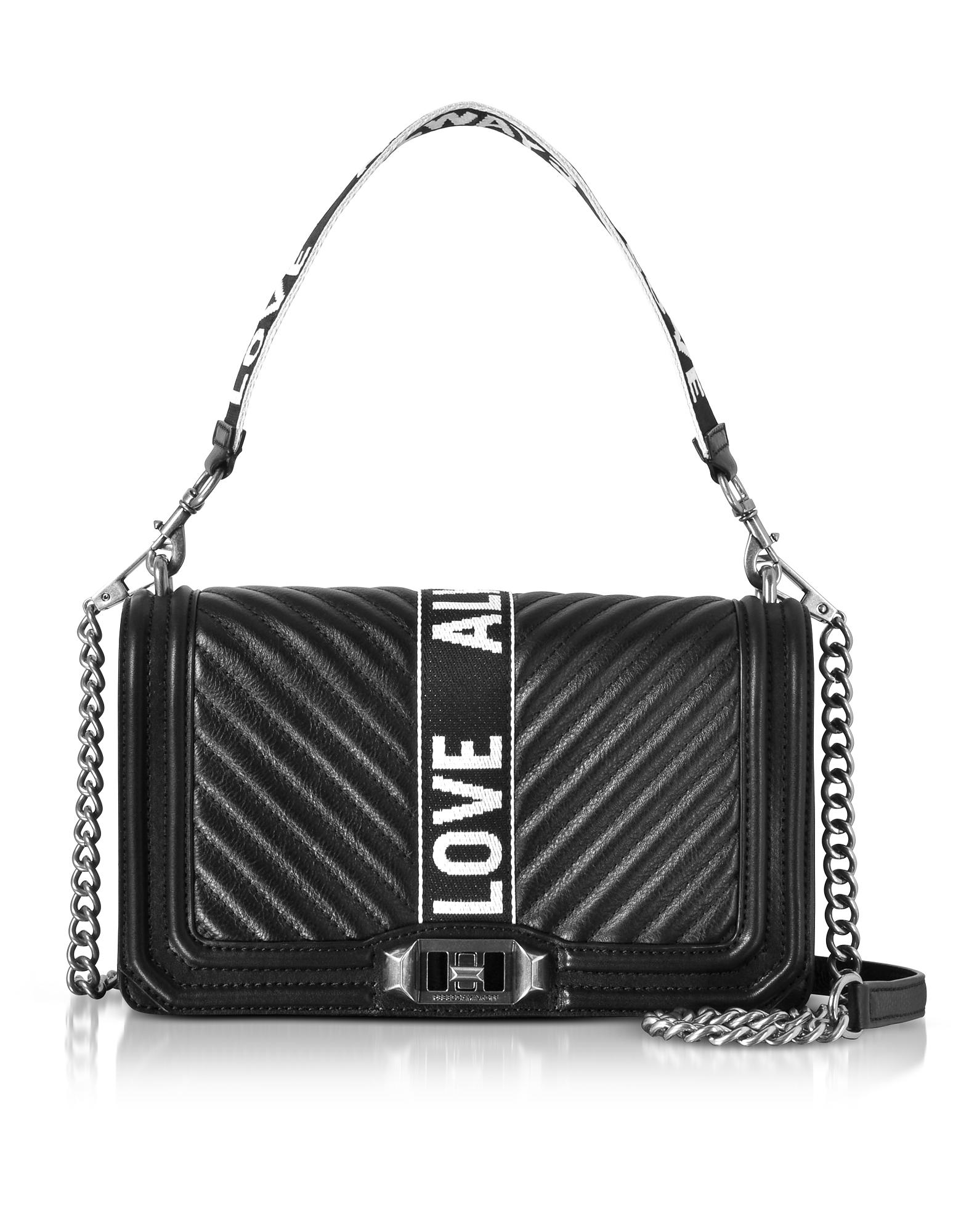 Rebecca Minkoff Handbags, Black Leather Love Crossbody Bag