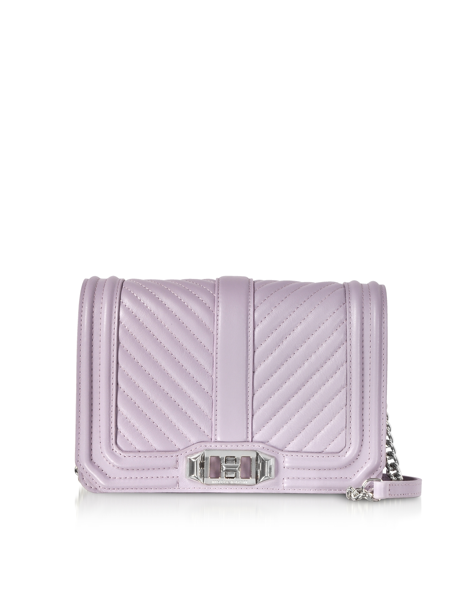 Rebecca Minkoff Designer Handbags, Chevron Quilted Leather Small Love Crossbody