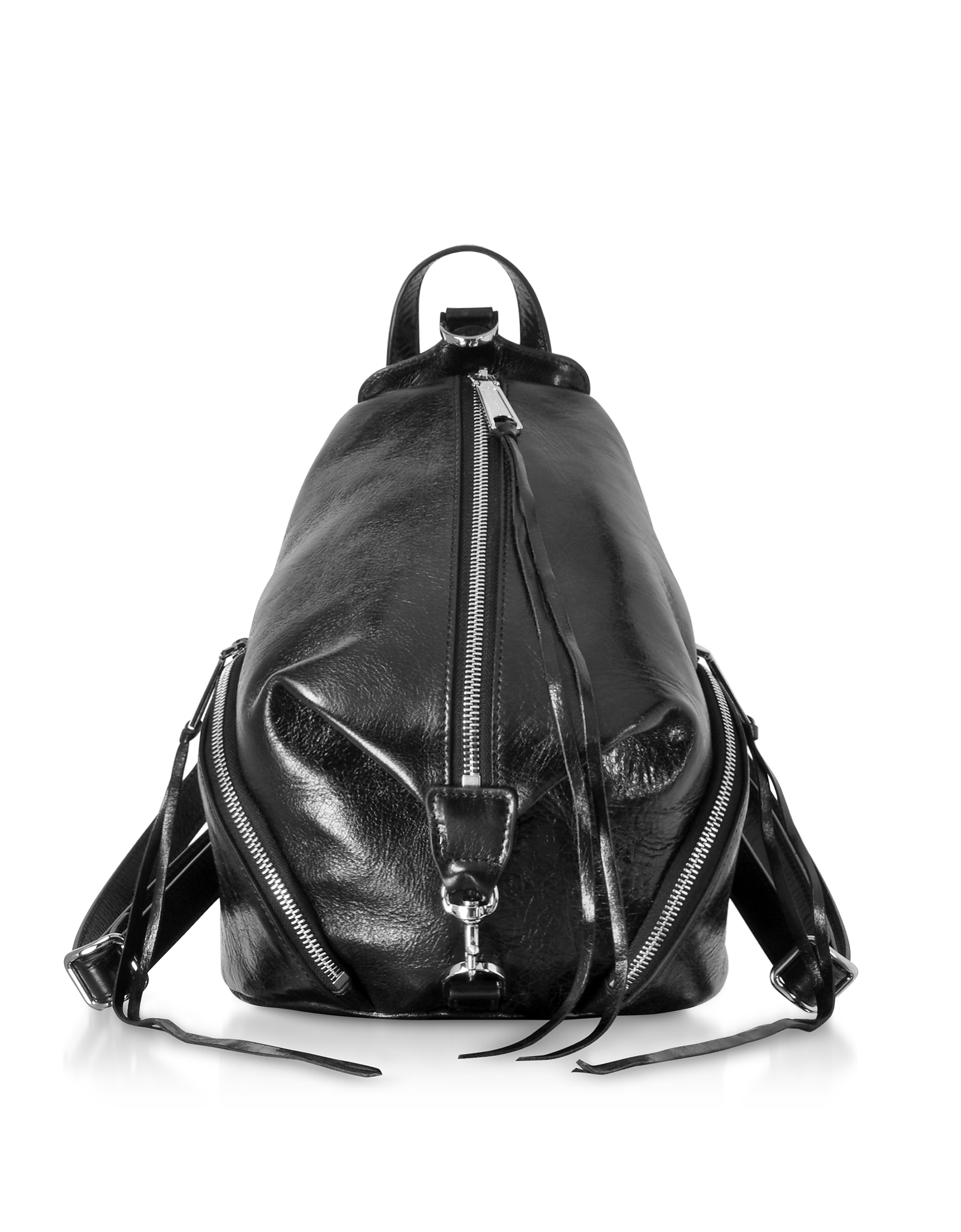 Black Nappa Leather Medium Julian Backpack