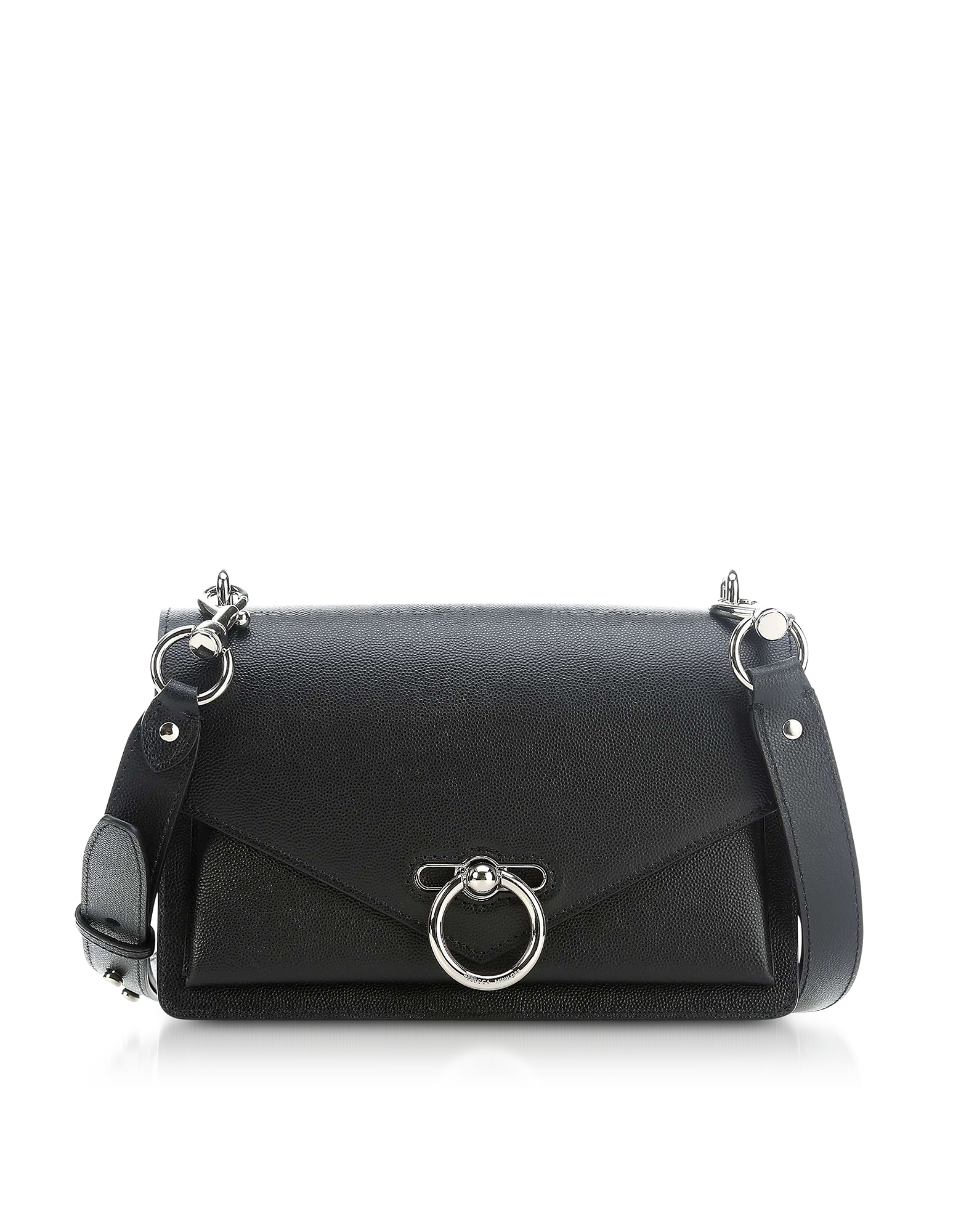 Black Caviar Leather Jean Medium Shoulder Bag
